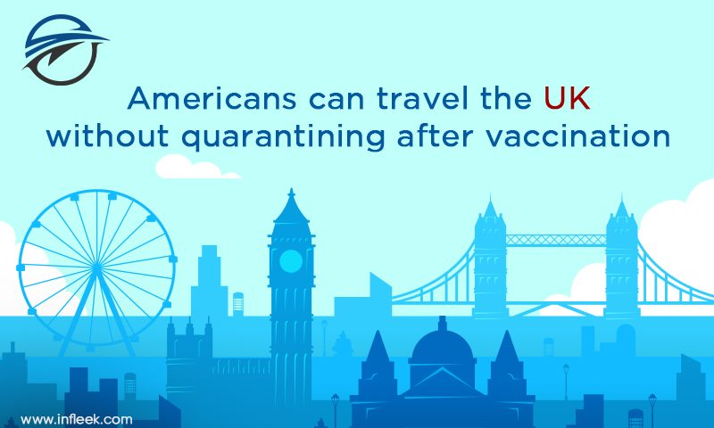 Americans can travel the UK without quarantining after vaccination