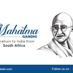 Mahatma Gandhi- the return to India from South Africa