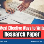 Most Effective Ways to Write Research Paper